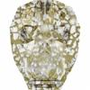 Swarovski Bead 5750 Skull 13mm Patina Gold Crystal